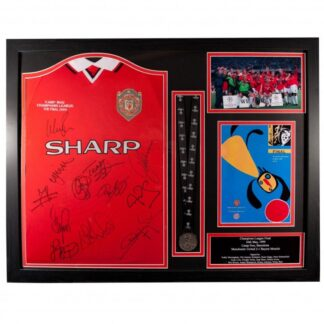 """Produkt Bild Manchester United signiertes """"Champions League Finale 1999"""" Trikot (gerahmt)"""