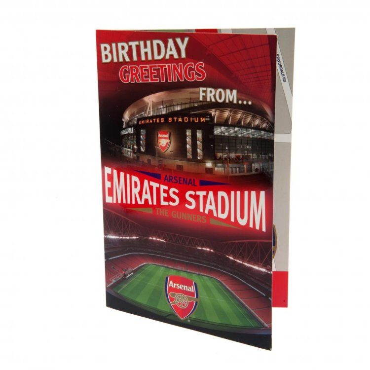 "Produkt Bild Arsenal FC Geburtstagskarte ""3D Stadium"""