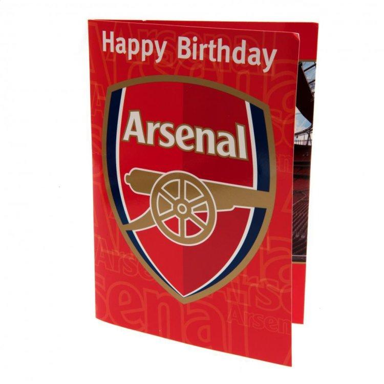 "Produkt Bild Arsenal FC Geburtstagskarte ""Musik"""