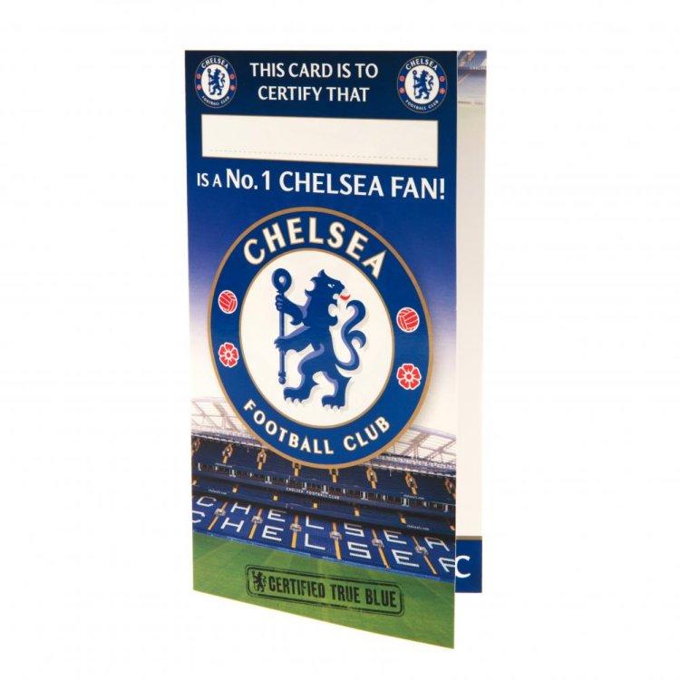 """Produkt Bild Chelsea FC Geburtstagskarte """"Nr. 1 Fan"""