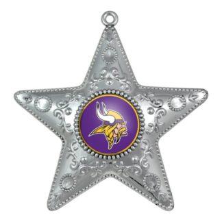 """Produkt Bild Minnesota Vikings Weihnachtsbaum Deko """"Silver Star"""""""