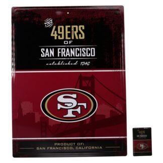 Produkt Bild San Francisco 49ers Schild & Magnet Set