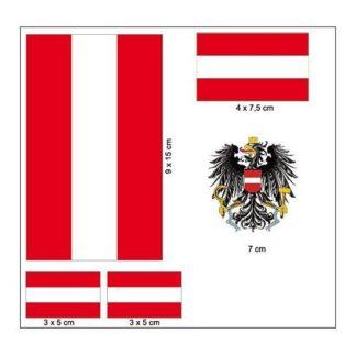 """Produkt Bild Aufkleber Set """"Österreich"""""""
