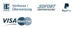 Logos von Zahlungsarten